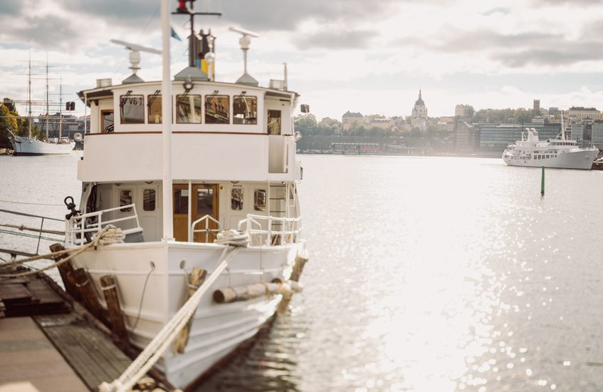 Ferryboats on the berth in Stockholm
